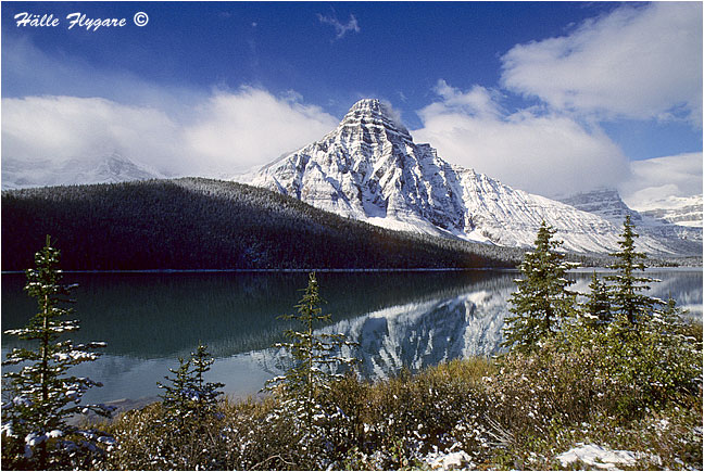 Mount Chephren and Lower Waterfowl Lake  photography by Hälle Flygare